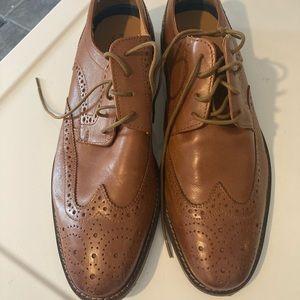 Florsheim tan cognac oxfords lace shoes